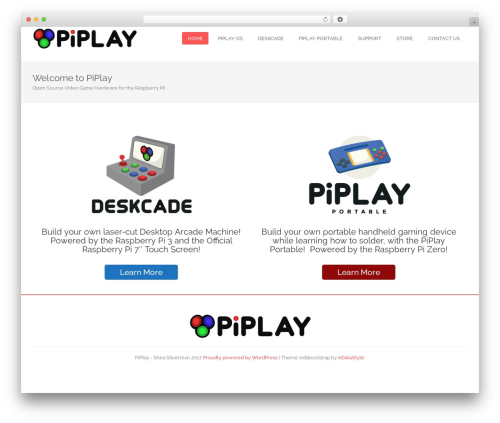edsbootstrap WP theme - piplay.org