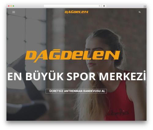 The7 fitness WordPress theme - dagdelenspor.com