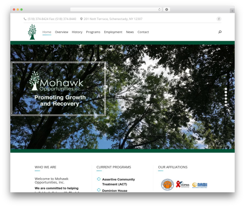 The7 WordPress page template - mohawkopportunities.org