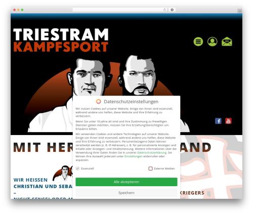 _tk-child WordPress page template - triestram-kampfsport.de