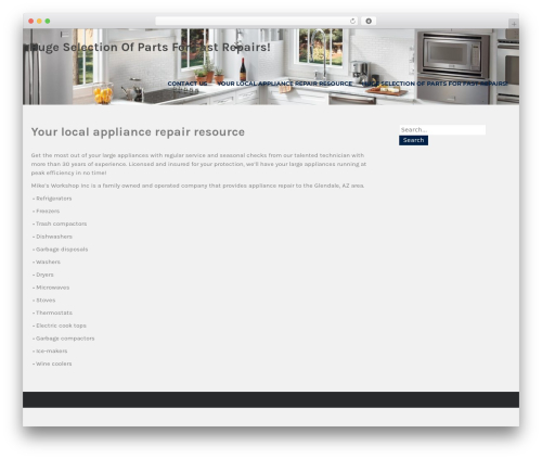 WordPress website template Institution - appliancerepairglendaleaz.com