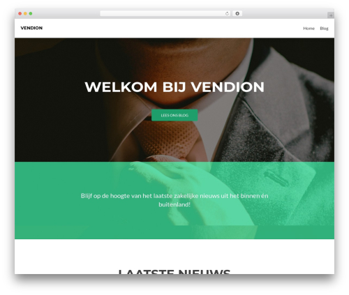 Zerif Lite WordPress theme - vendion.nl