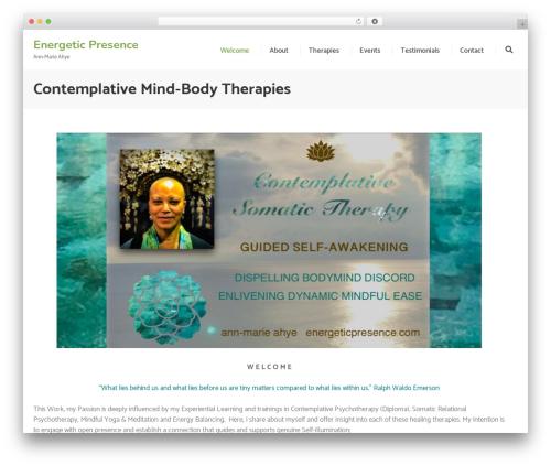 Pranayama Yoga free WP theme - energeticpresence.com