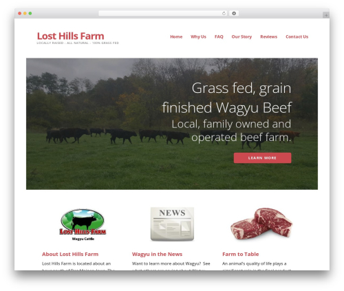 Best WordPress theme Ascension - losthillsfarm.com