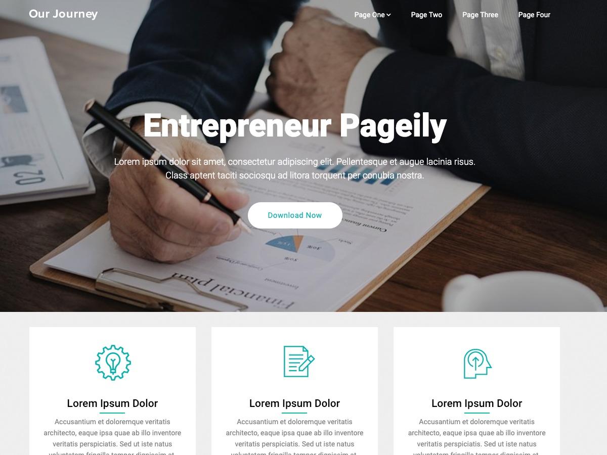 Entrepreneur Pageily WordPress landing page