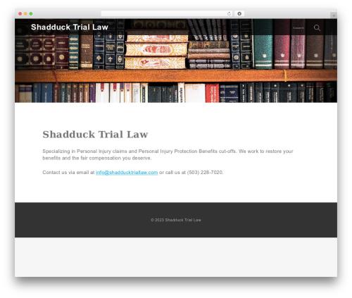 Lawyer WP premium WordPress theme - shadducktriallaw.com