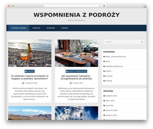 Miteri WordPress theme design - sklepzpodrozy.pl