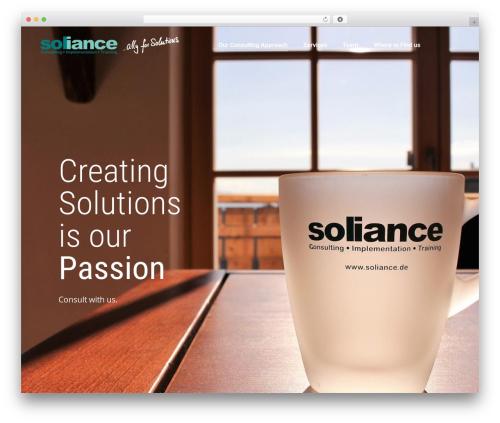 Theme WordPress The7 - soliance.de