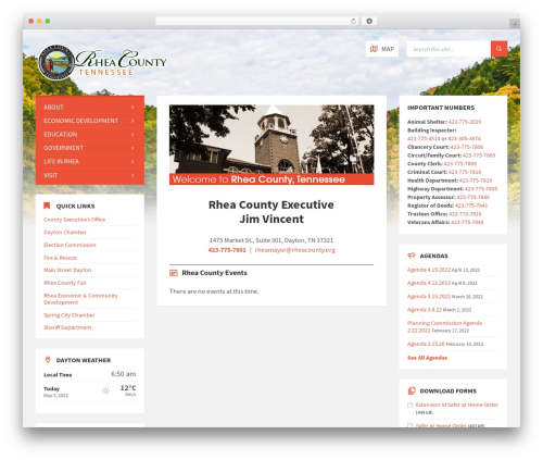WordPress theme TownPress - rheacountytn.com