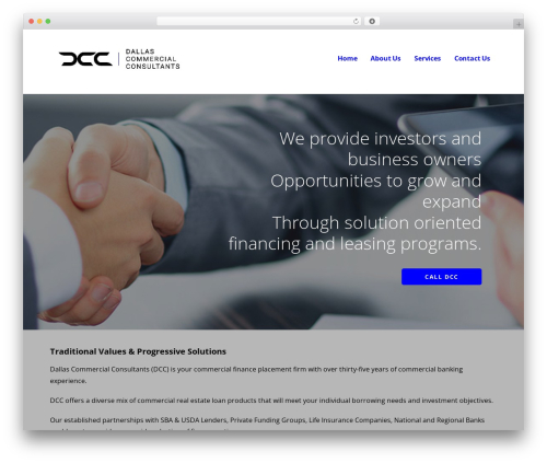 Ascension company WordPress theme - calldcc.com