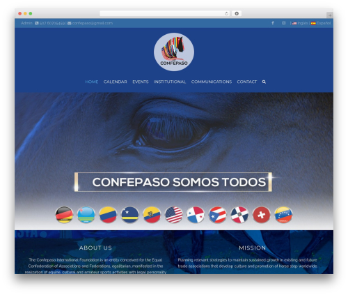 Best WordPress template HorseClub - confepaso.net