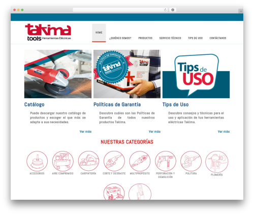 Delicate theme WordPress - takima.com.ve