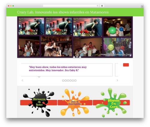 Isis Pro best WordPress theme - showsinfantilesenmatamoros.com