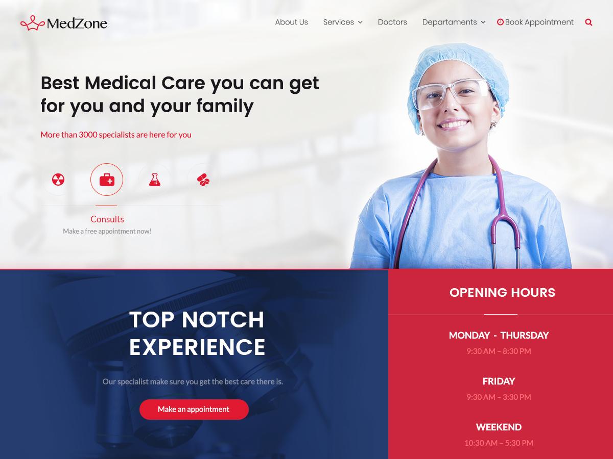 MedZone Lite Child medical WordPress theme