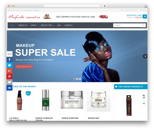 WPO Shopping best WordPress template - maycols.net