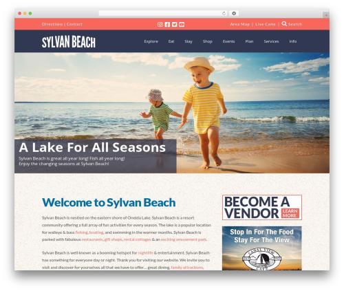 X best restaurant WordPress theme - sylvanbeachny.com