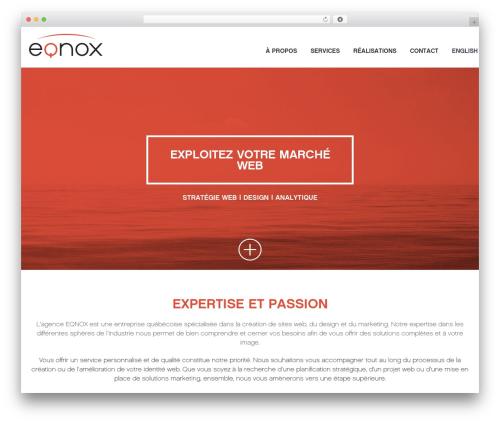 Best WordPress theme Codeus - eqnox.ca