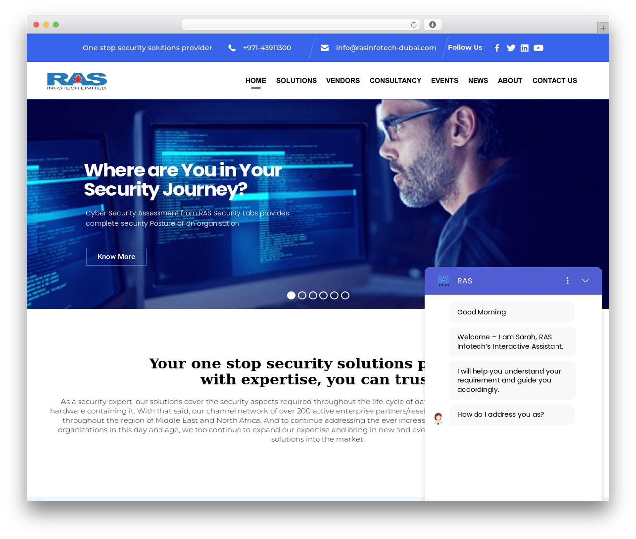 Consulting Child business WordPress theme - rasinfotech-dubai.com