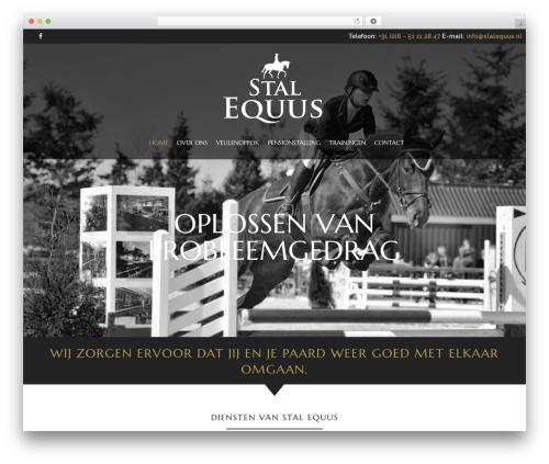 HorseClub WordPress theme design - stalequus.nl