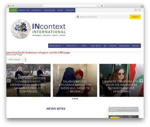UrbanNews WordPress magazine theme - incontextinternational.org