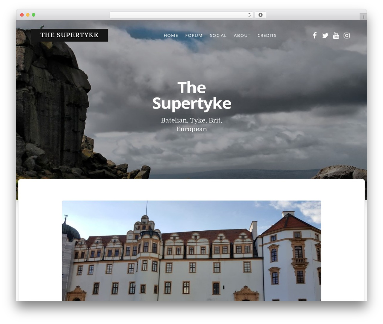 WordPress website template Typit - supertyke.net
