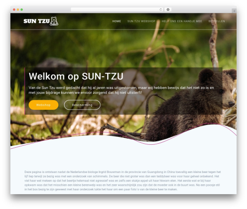Materialis top WordPress theme - sun-tzu.nl
