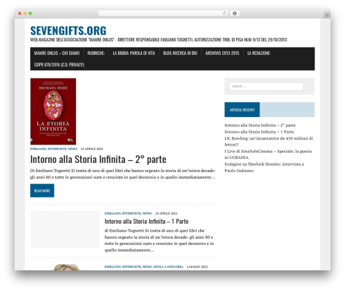MH Newsdesk lite newspaper WordPress theme - sevengifts.org