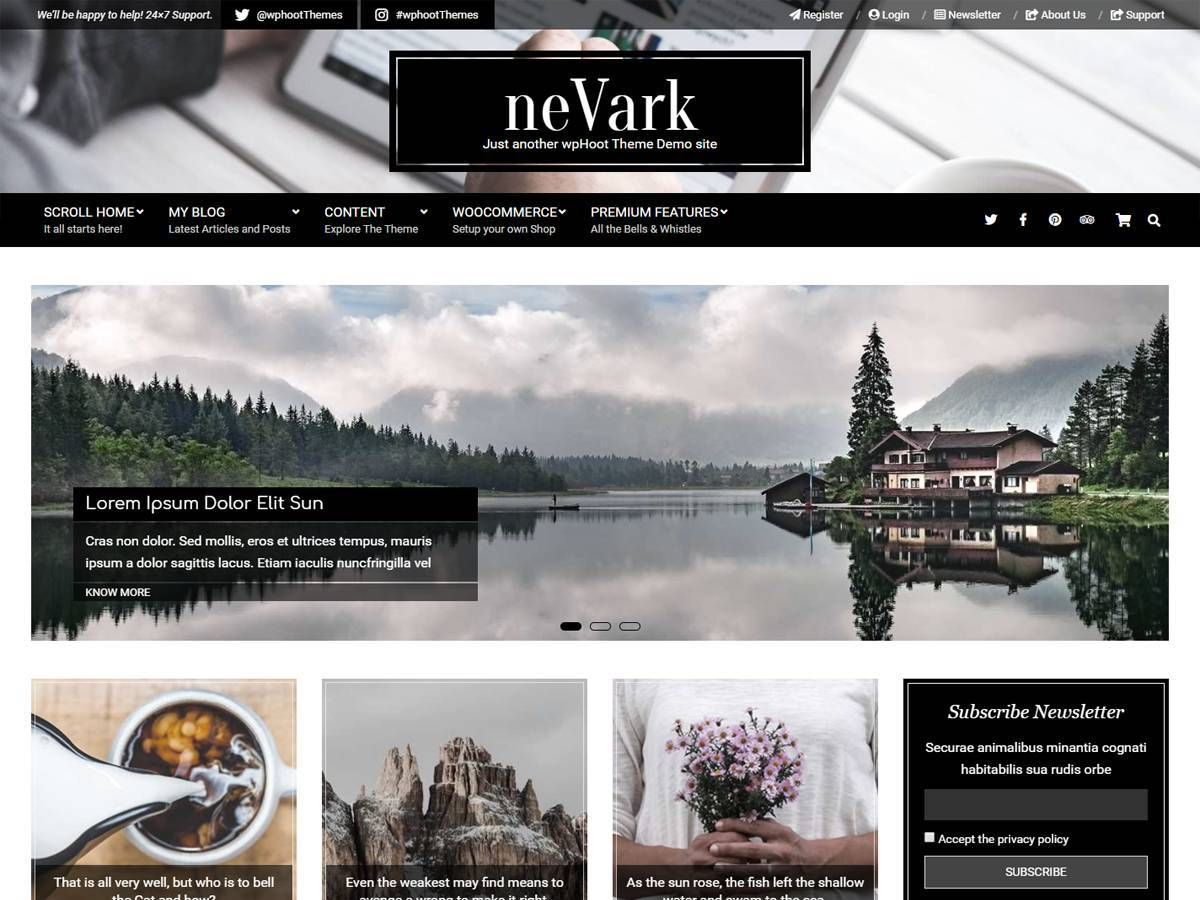 Nevark WordPress theme image