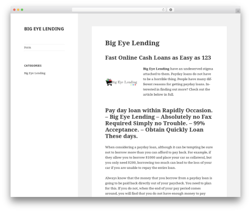 Twenty Fifteen free WP theme - eyebiglendinginc.com