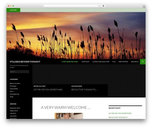Twenty Fourteen WordPress theme download - stillnessbeyondthought.com