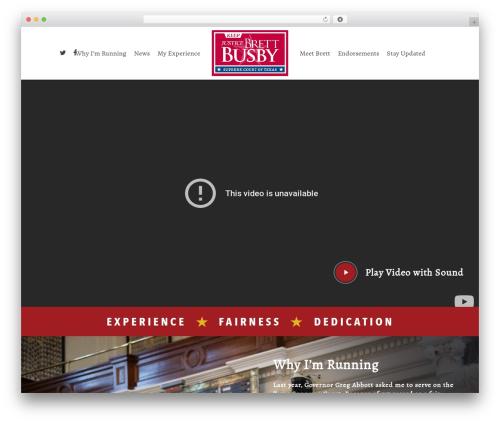 Salient best WordPress template - brettbusby.com