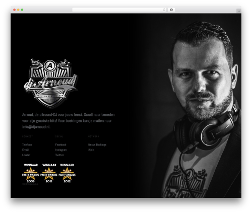 Split top WordPress theme - djarnoud.nl