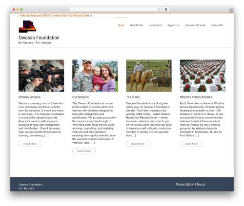 Businessweb Plus WordPress page template - owassofoundation.org