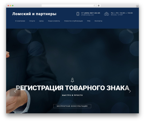 Skylar theme WordPress - lomsky.com