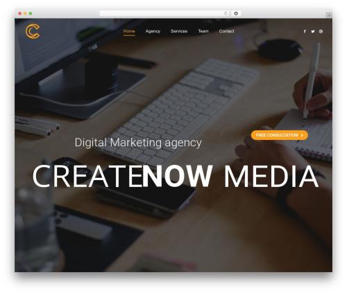 The7 WP template - createnowmedia.com