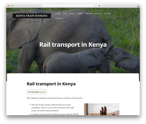 WordPress theme Typit - kenyatrainbooking.com