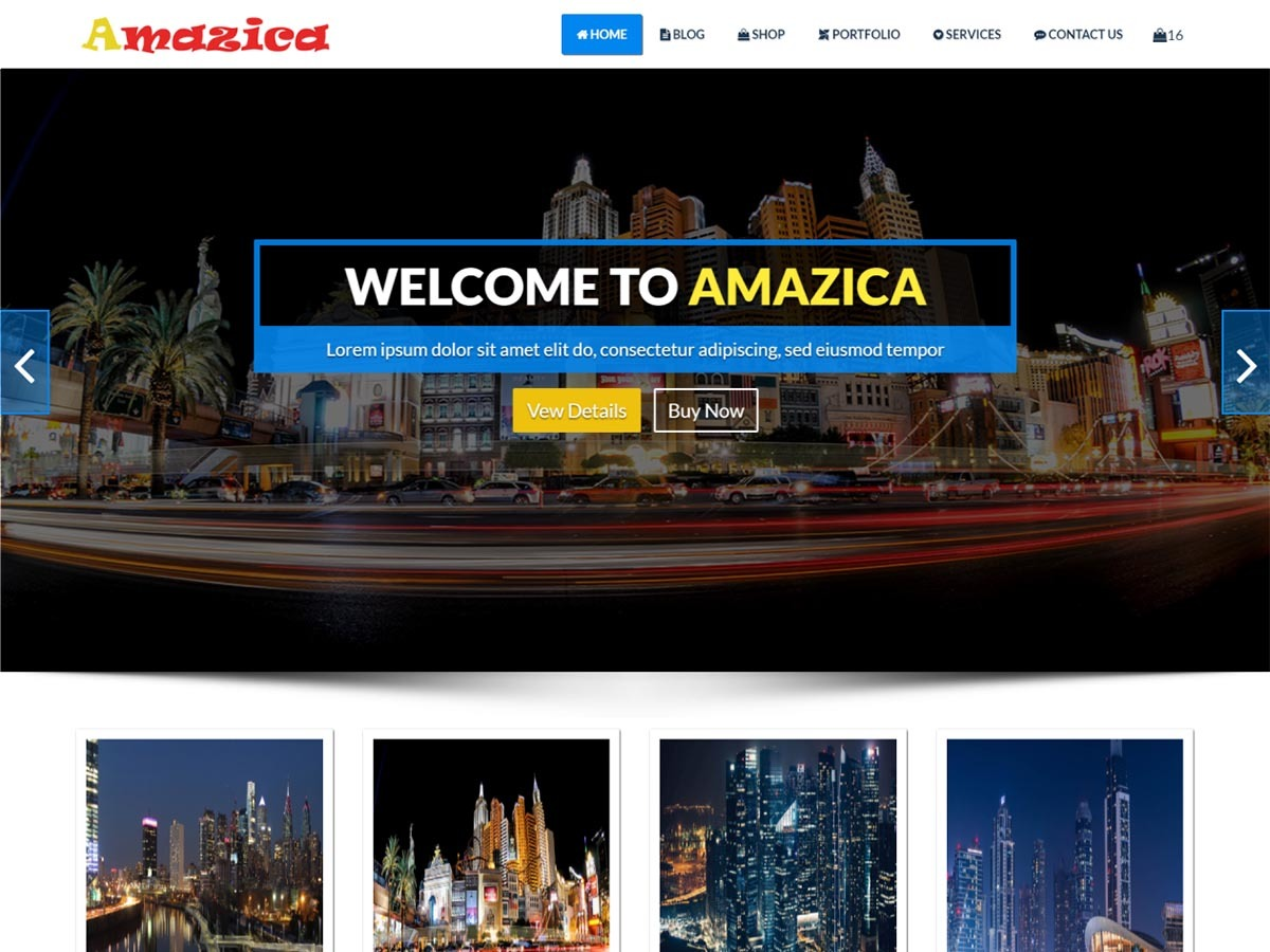 Amazica WordPress shop theme