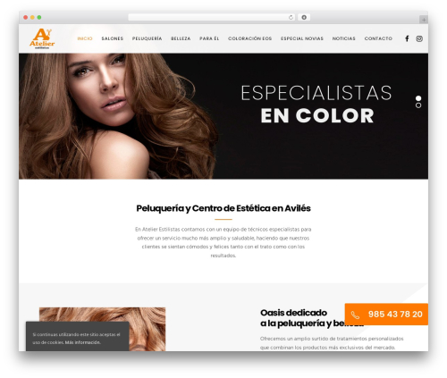 WordPress theme Movedo - atelierestilistas.com