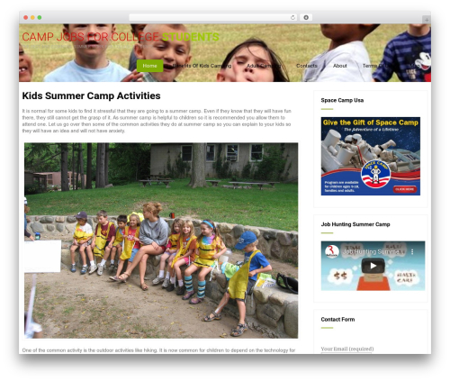 Best WordPress template Eco Friendly Lite - joltcamps.com