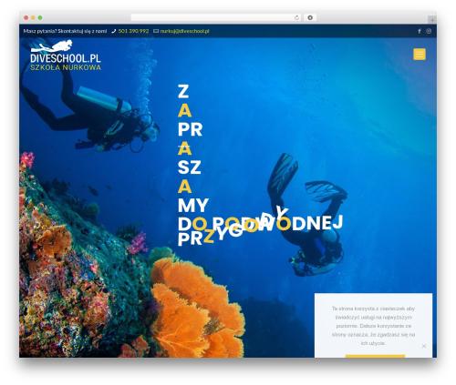 Betheme theme WordPress - diveschool.pl
