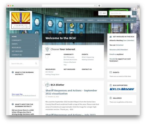 TownPress best WordPress template - burbankscc.org