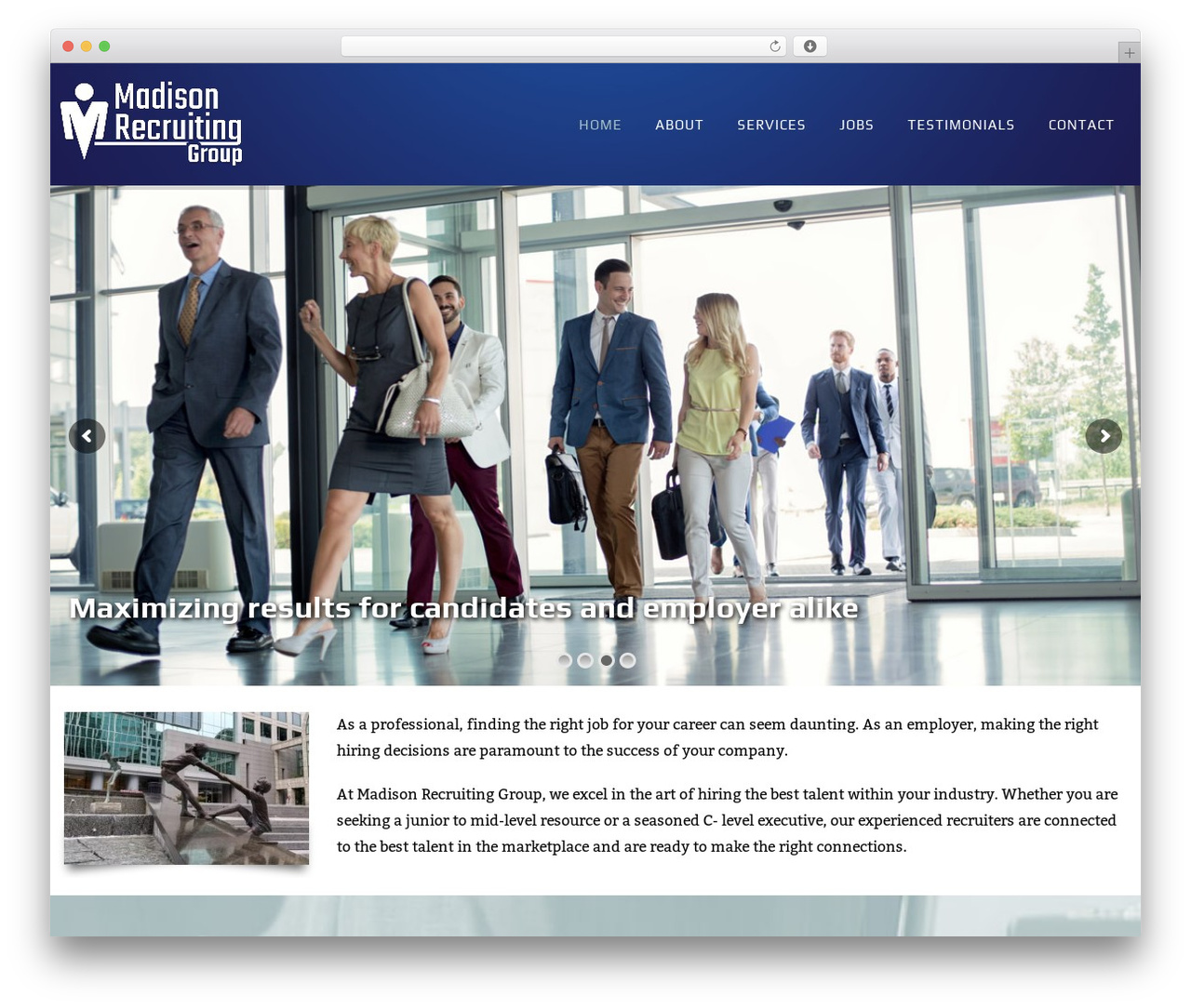 WP template Creativo Theme - madisonrecruitinggroup.com