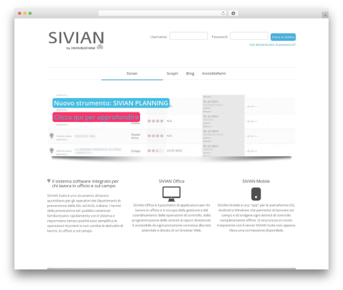 WP template Quare - suite.sivian.it