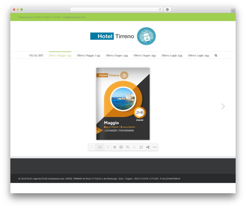 Best WordPress theme Avada - tirrenohotel.com
