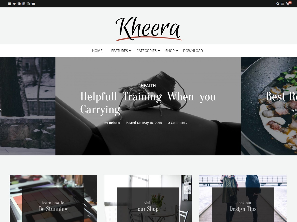 kheera best WordPress magazine theme