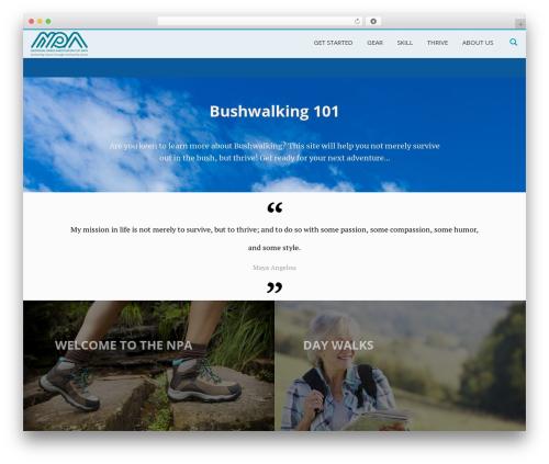 LongformPRO top WordPress theme - bushwalking101.org