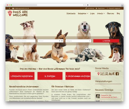 Pointfinder WordPress theme design - dogsarewelcome.de