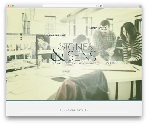 Best WordPress theme Flawless - signes-sens.com
