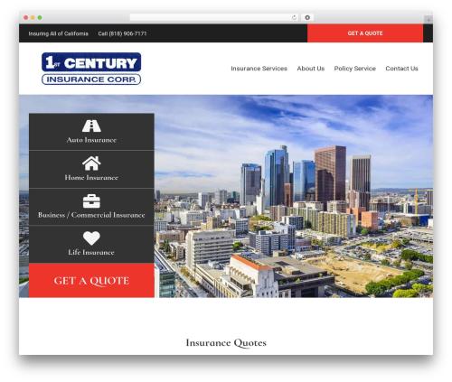 BrightFire Stellar WordPress template for business - firstcenturyinsurance.com