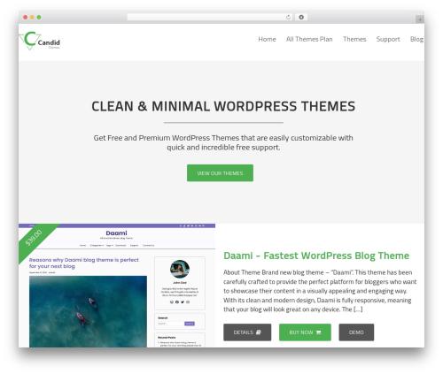 Candid Themes WordPress theme design - candidthemes.com